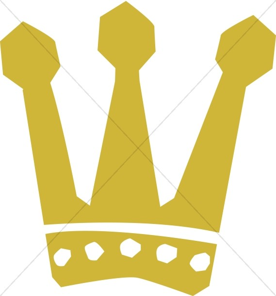 569x612 Gold Three Pronged Crown Crown Clipart