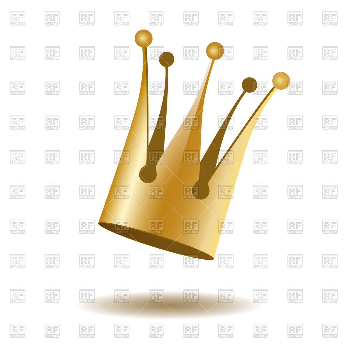 1200x1200 Falling Gold Crown Isolated On White Background Royalty Free