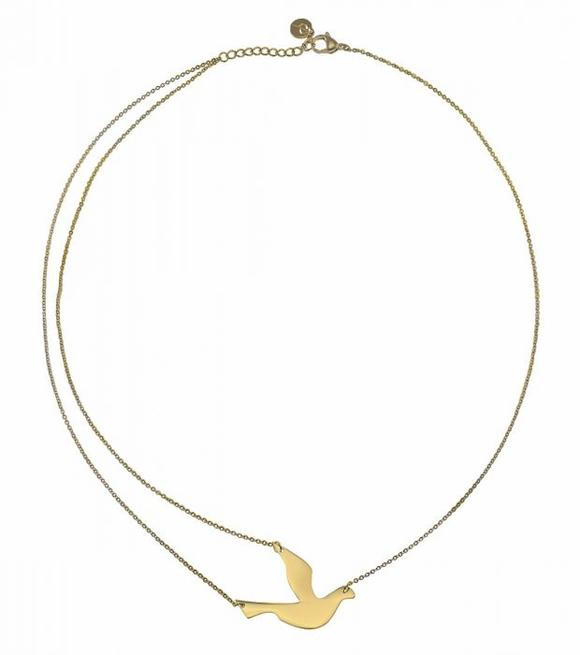 580x655 Dove Necklace Gold European Design Goods