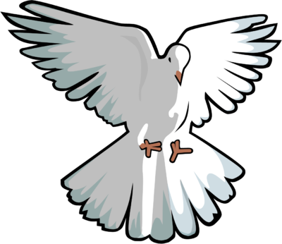 400x346 Dove Clipart Transparent Background