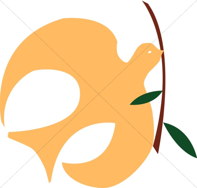 776x740 Gold Dove With Olive Branch Dove Clipart