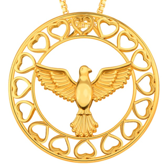 640x640 Buy New Fashion Peace Dove Pendant Jewelry Gold
