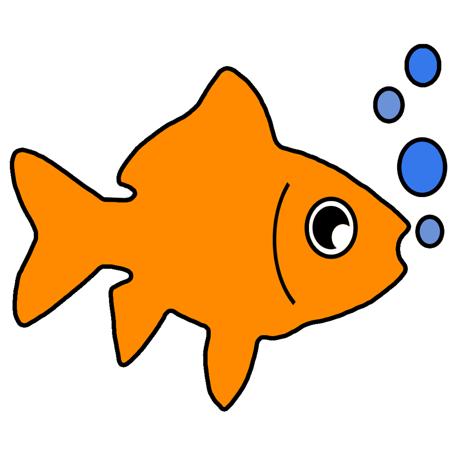 1500x1500 Gold Fish Clipart Fish Pond