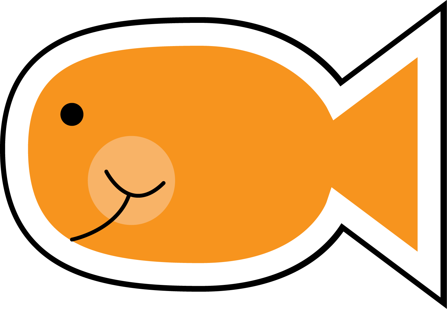 1463x1013 Best Goldfish Clipart