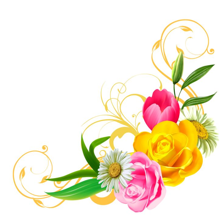 Gold Flower Clipart