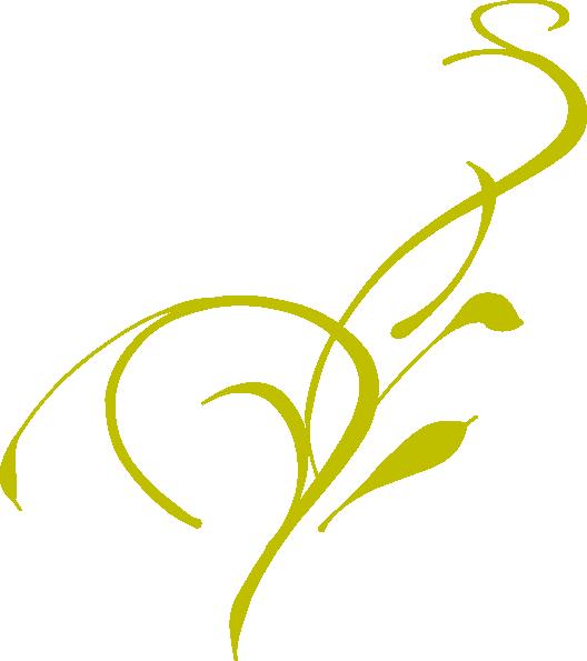 528x595 Gold Swirl Clip Art