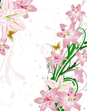 288x368 Set Decorative Gold Flower Elements Free Vector Download (50,344