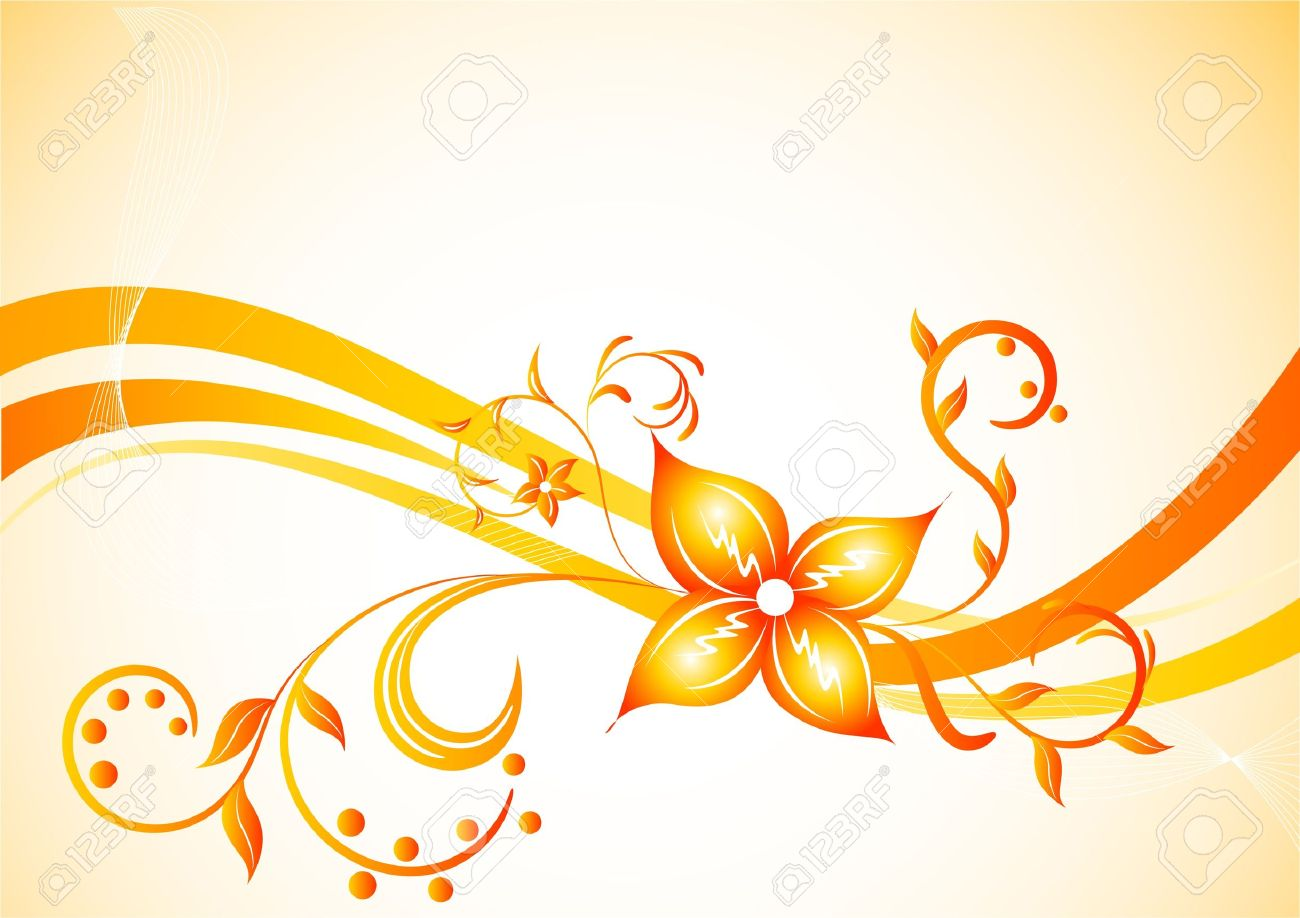 1300x918 Vector Background With Flower Clip Art Royalty Free Cliparts