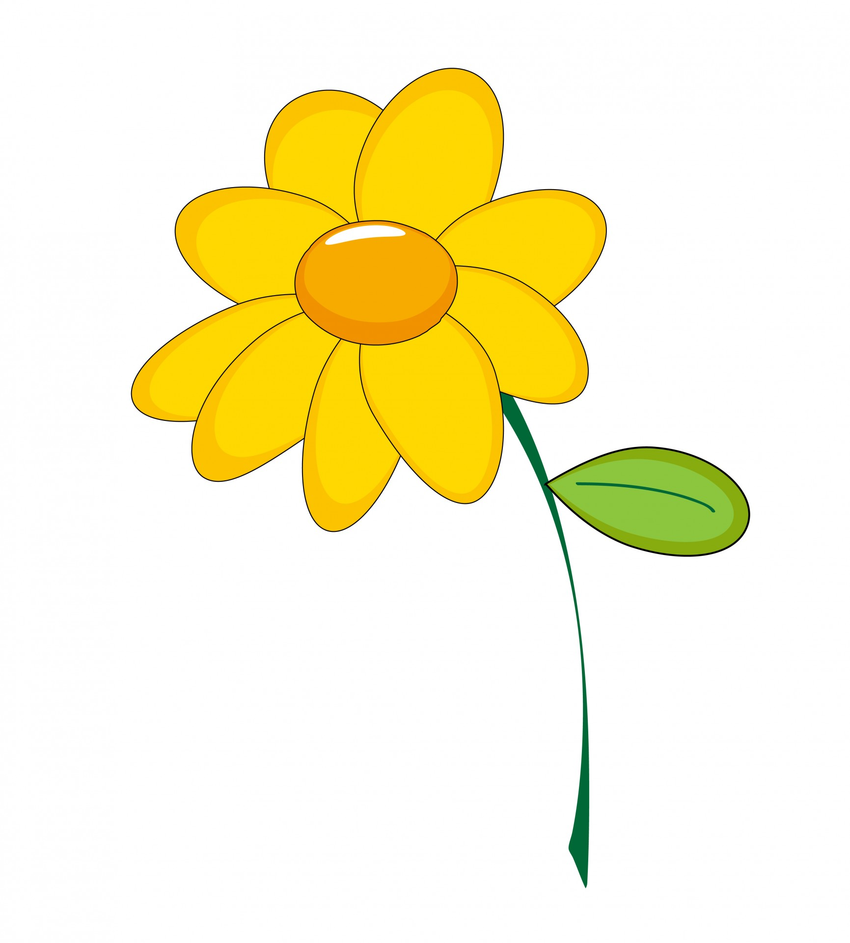 1731x1920 Yellow Flower Clipart Free Stock Photo