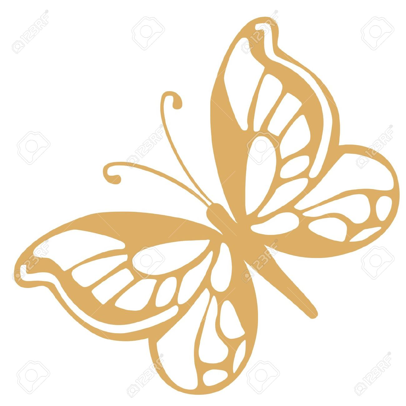 1300x1300 Butterfly Clipart Gold