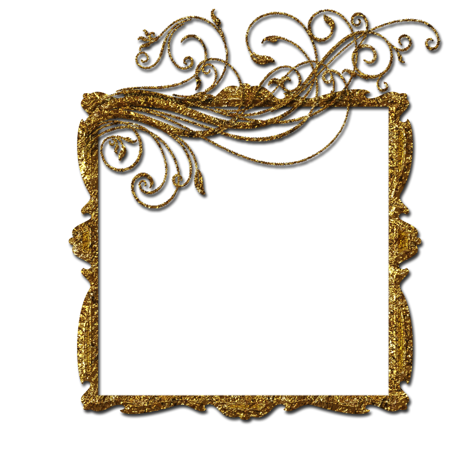 900x900 Gold Frame Png