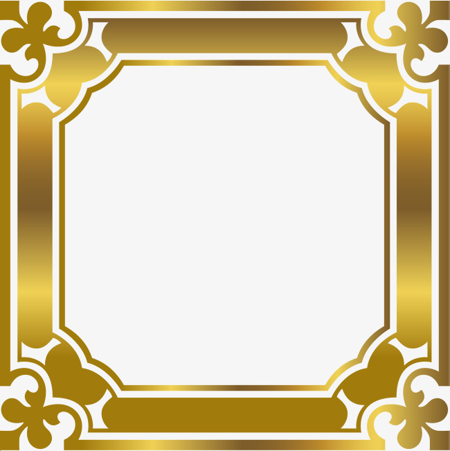 650x651 Luxury Gold Border, Luxurious, Atmosphere, Golden Png Image