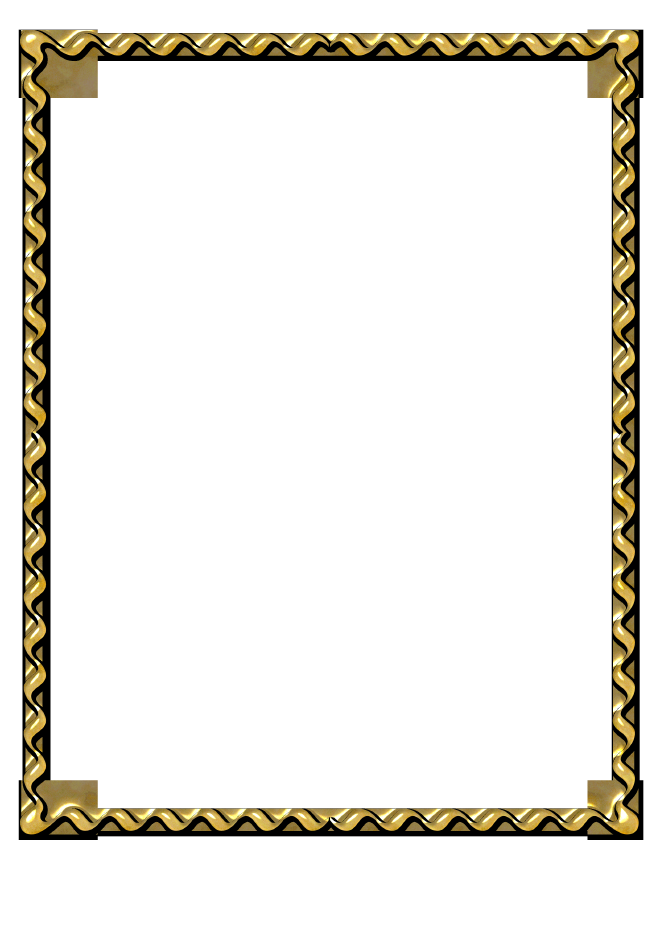 660x934 Black And Gold Border Clipart
