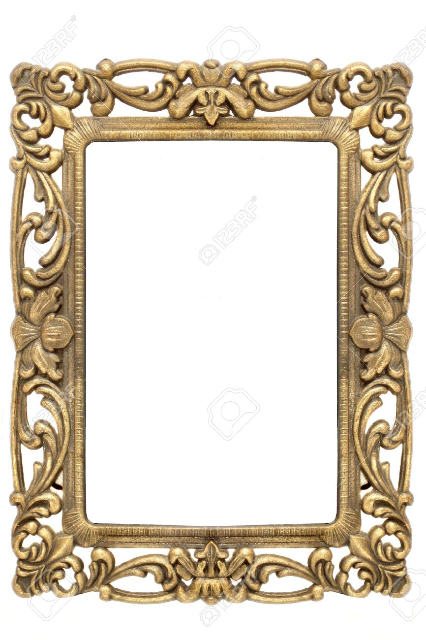 866x1300 View Full Size Gold Frame Border O
