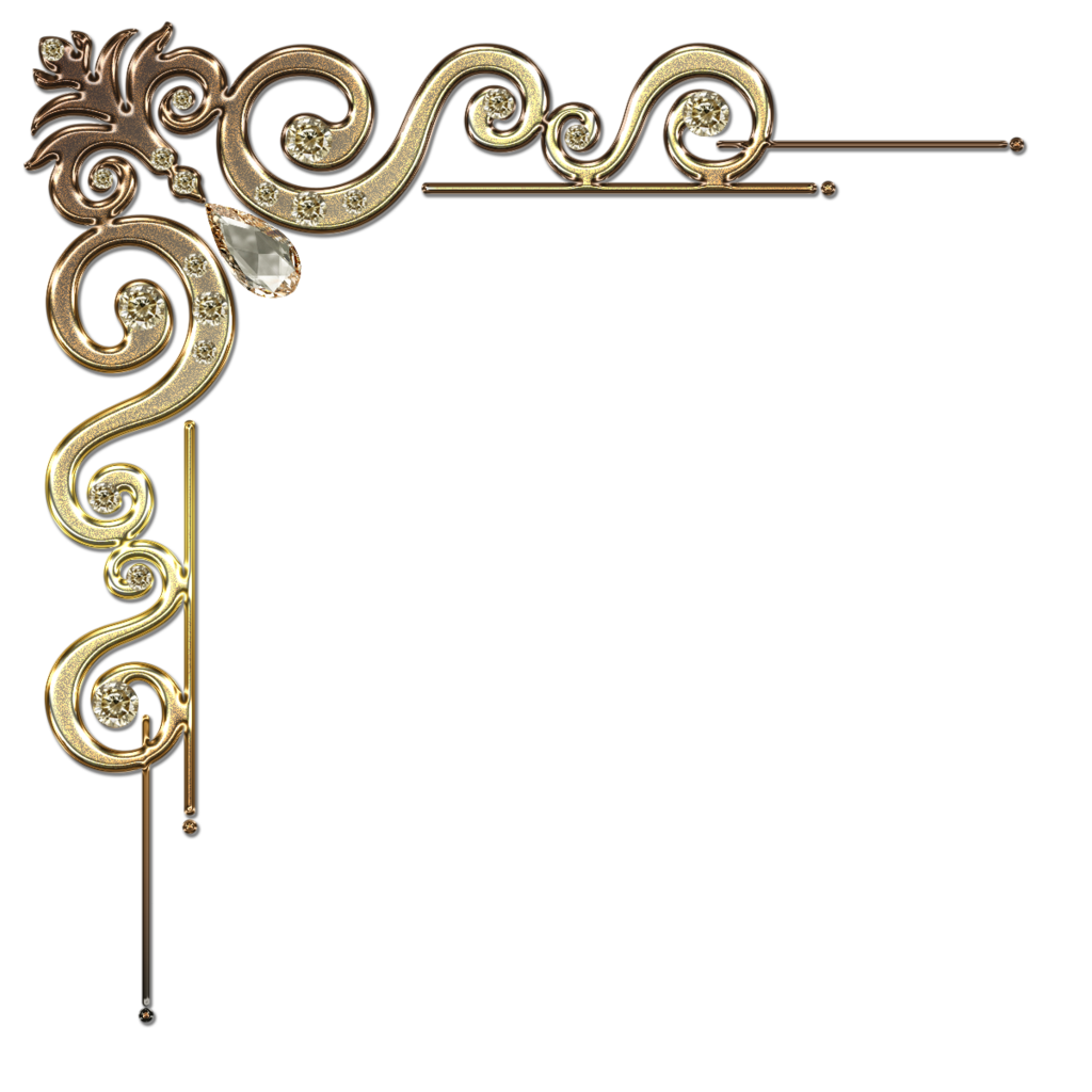 1024x1024 Gold Decorative Frame Clipart