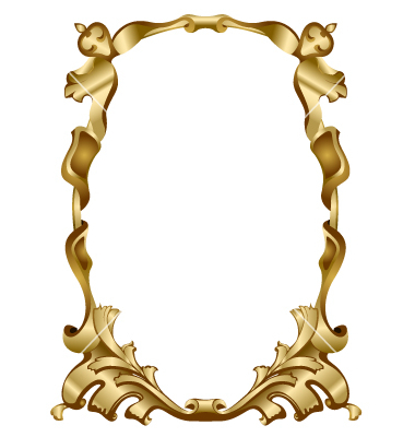 380x400 Gold Decorative Frame Clipart