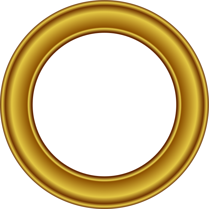 696x696 Gold Frame Circle 2 Clipart Panda