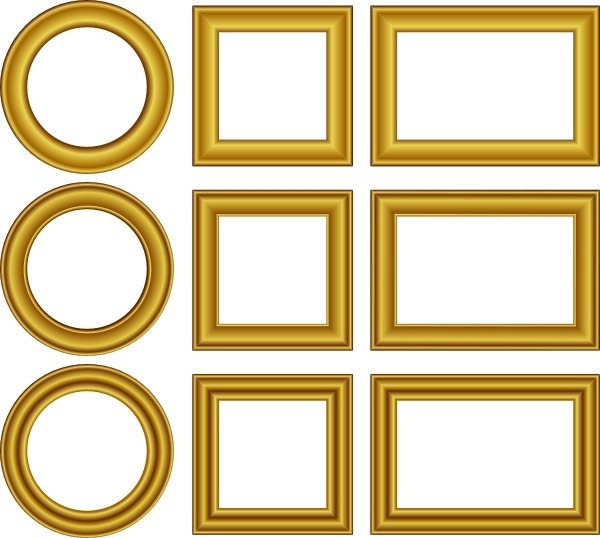600x538 Gold Frames Set Clip Art Free Vector In Open Office Drawing Svg