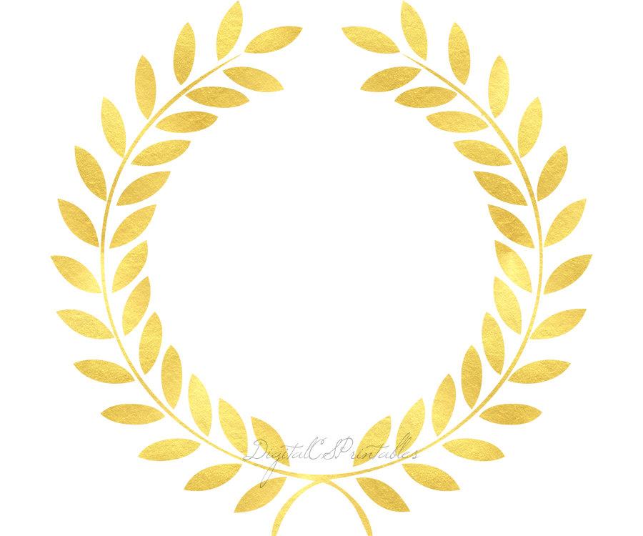 900x750 Gold Laurel Clipart Gold Floral Frame Clipart Gold Foil Clip Art