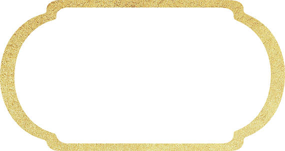 570x302 Golden Digital Frame Clipart, Gold Frame Digital Art Supplies