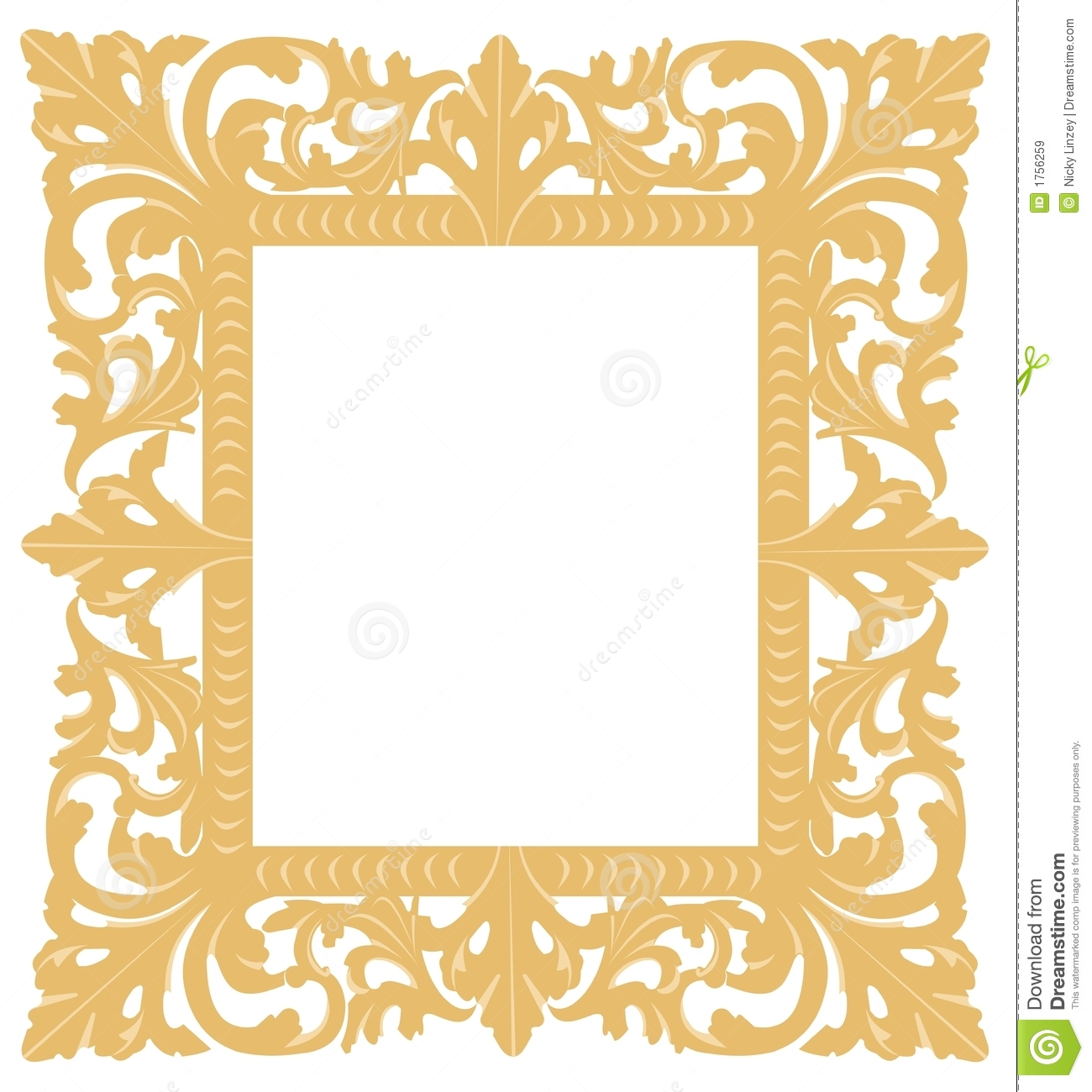 1300x1300 Ornate Gold Frame Clipart Panda