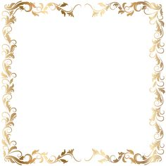 236x236 Border Frame Gold Transparent Clip Art Backgrounds