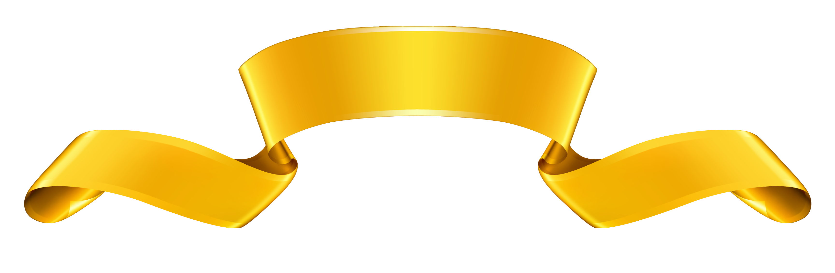 Gold Ribbon Clipart Free Download Best Gold Ribbon