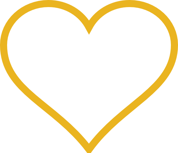 600x518 Gold Heart Clip Art