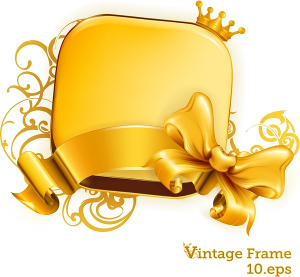 600x554 Gold Ribbon Free Vector Download (6,134 Free Vector)
