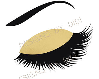 340x270 Instant Download Lash Clipart Rose Gold Lashes Clip Art