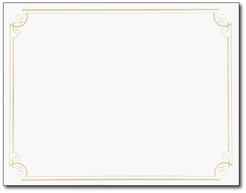 828x648 Gold Certificate Border Clip Art