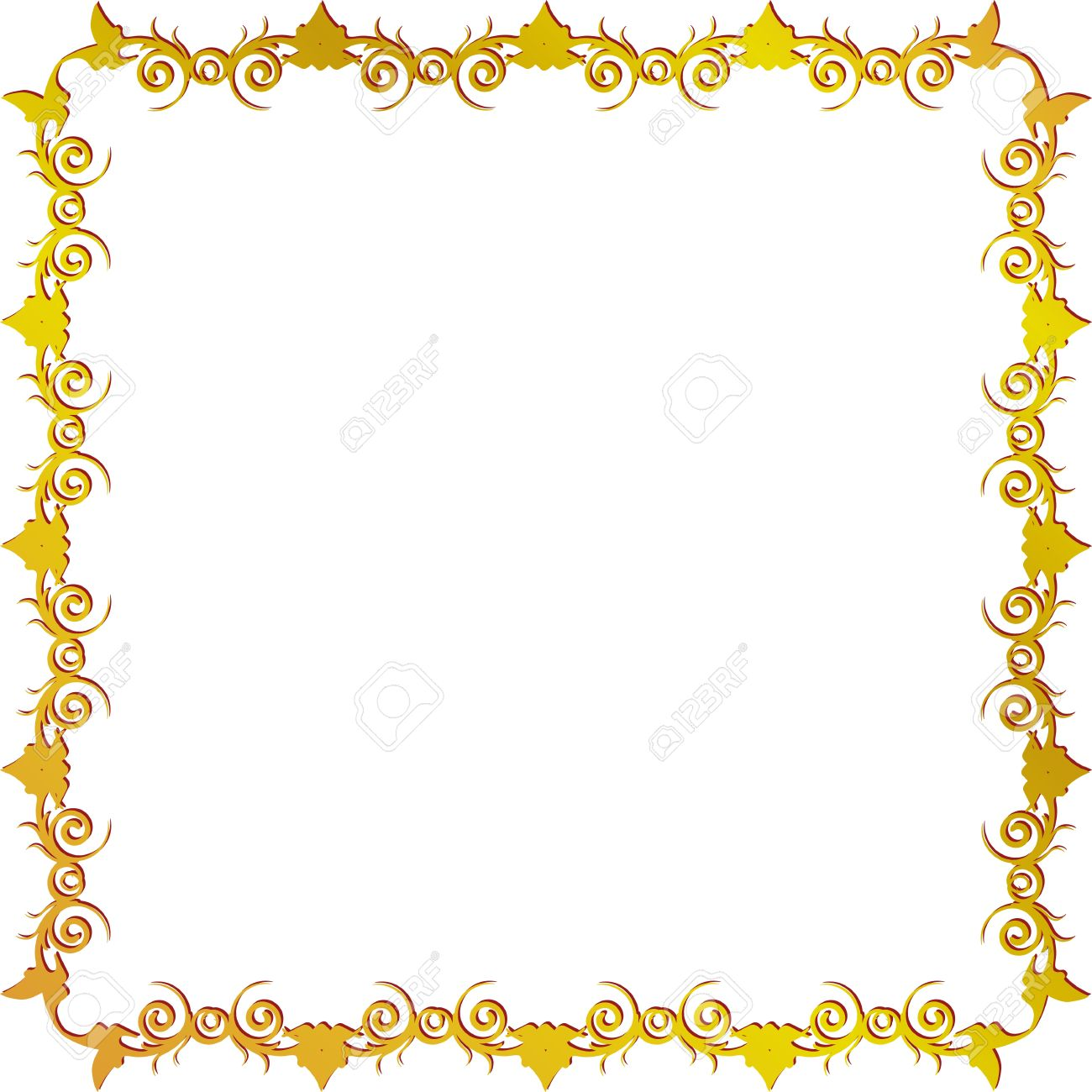 Gold Scroll Border | Free download best Gold Scroll Border on ...