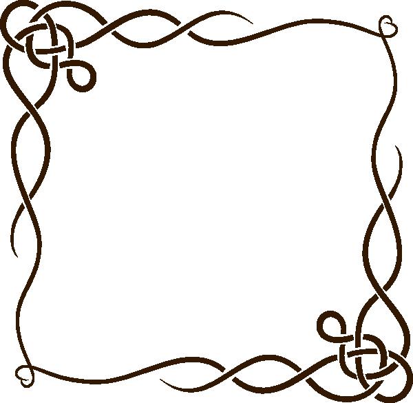 600x585 Gold Scroll Border Clip Art