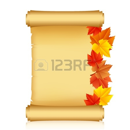 450x450 Illustration Of Gold Scroll And Feather Royalty Free Cliparts