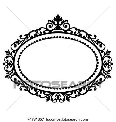 449x470 Clip Art Of Decorative Frame K4781357