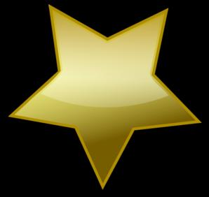 298x282 Gold Star Clip Art