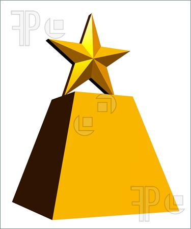 375x450 Trophy Clipart Gold Star