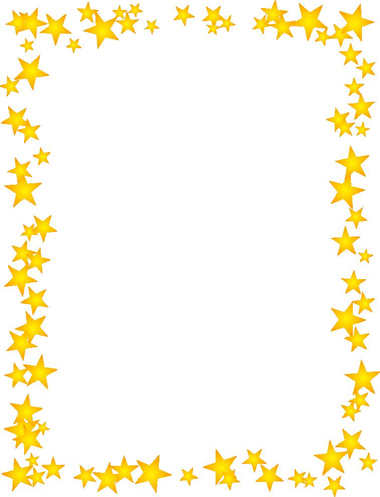 756x990 Gold Star Border Dromhja Top Clipart Image