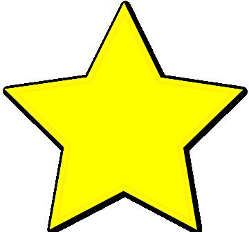 360x335 Gold Star Yellow Star Printable Dromibf Top Clip Art Image