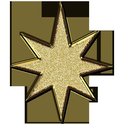 512x512 Stars Clipart Art Deco