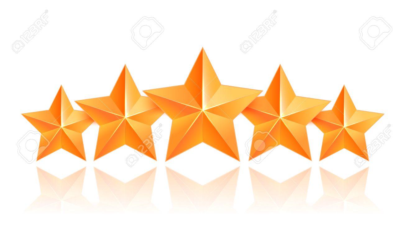 1300x754 Realistic 3d Gold Star. Award Winner. Five Gold Stars. Good Job
