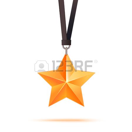 450x450 Realistic 3d Gold Star. Award Winner. Good Job. The Best Reward