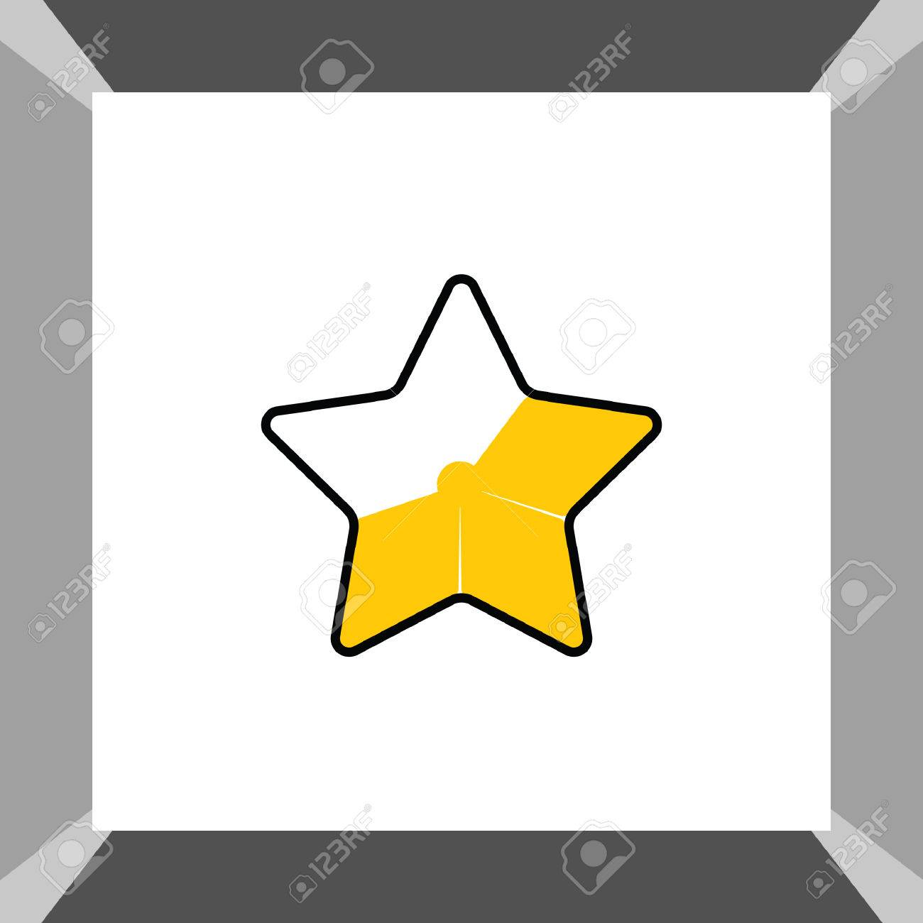 1300x1300 Gold Star Favorite Icon Royalty Free Cliparts, Vectors, And Stock