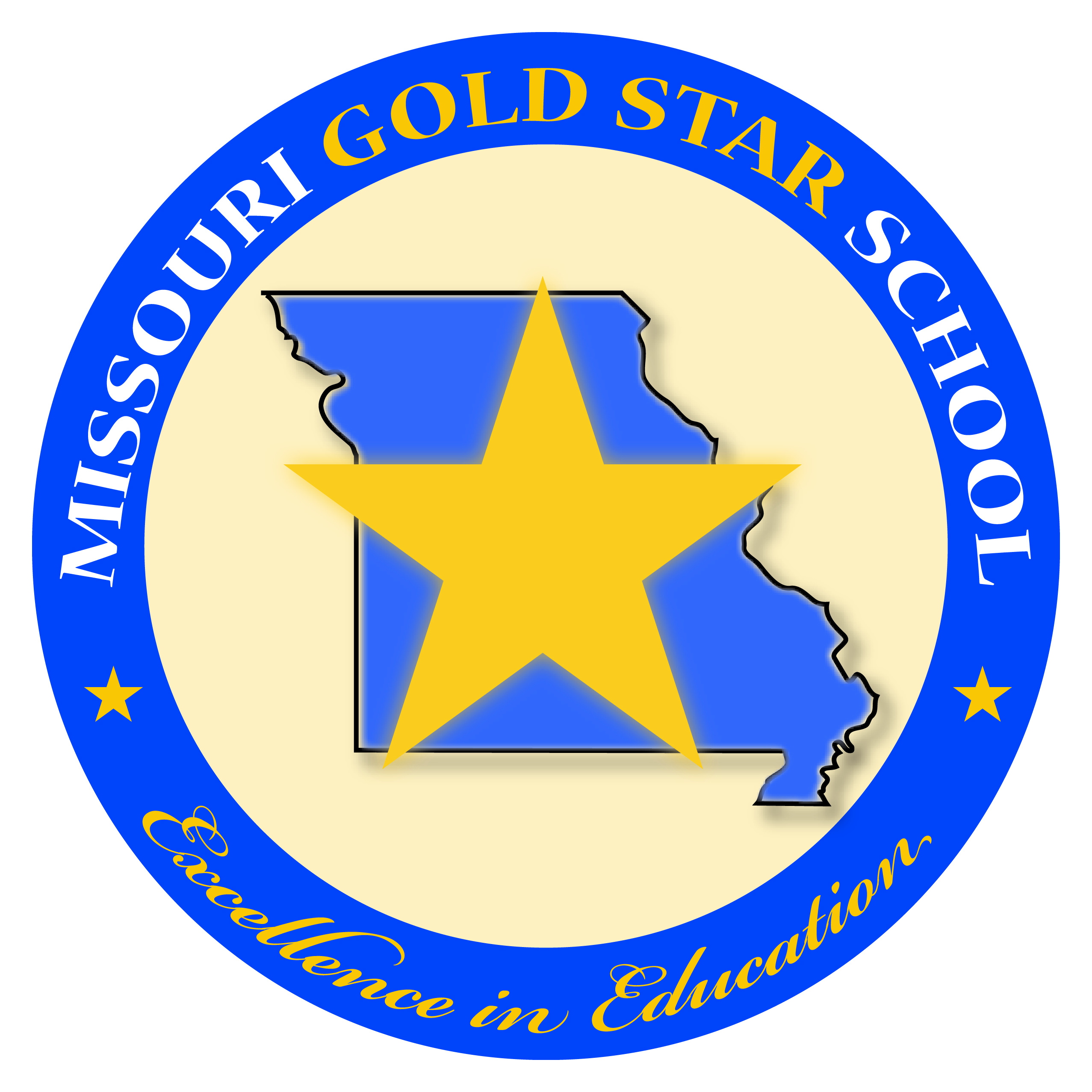 2554x2554 Gold Starlue Ribbon Schools Missouri Department Of Elementary