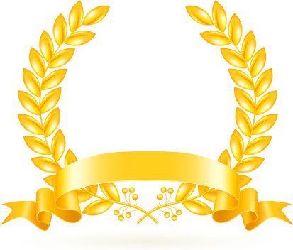 413x352 Gold Star Award With Shiny Ribbon Free Vector Download (14,098
