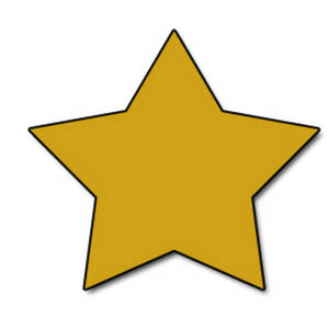 300x300 Web Graphic Clipart Picture Of A Gold Star