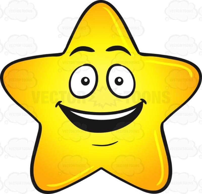 800x770 Gold Star Cartoon With Bright Look On Face Emoji Emoji, Cartoon