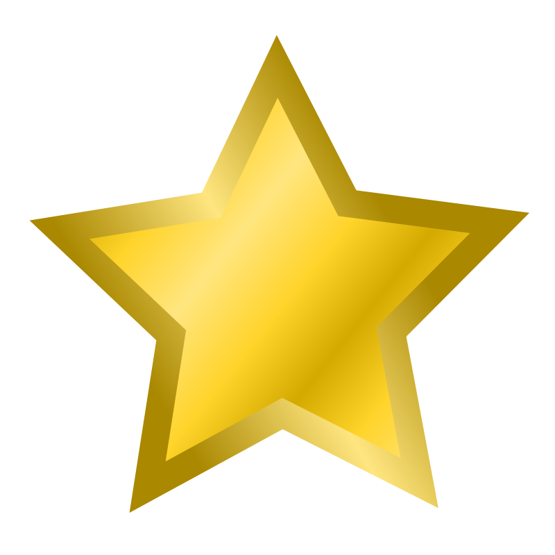 800x800 Gold Star Clipart No Background Free Images