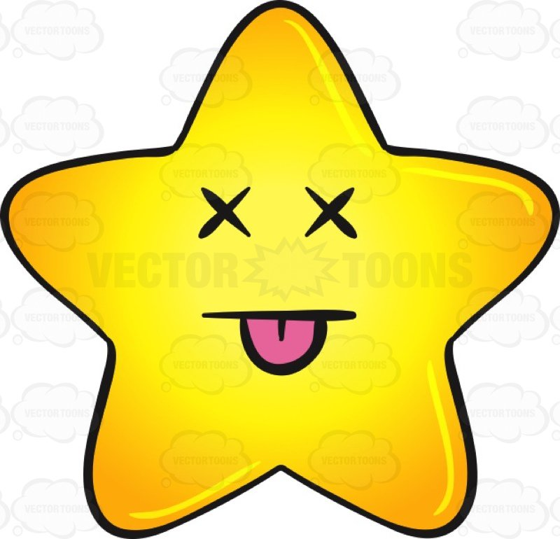 800x770 Knocked Out Gold Star Cartoon Emoji Cartoon Clipart