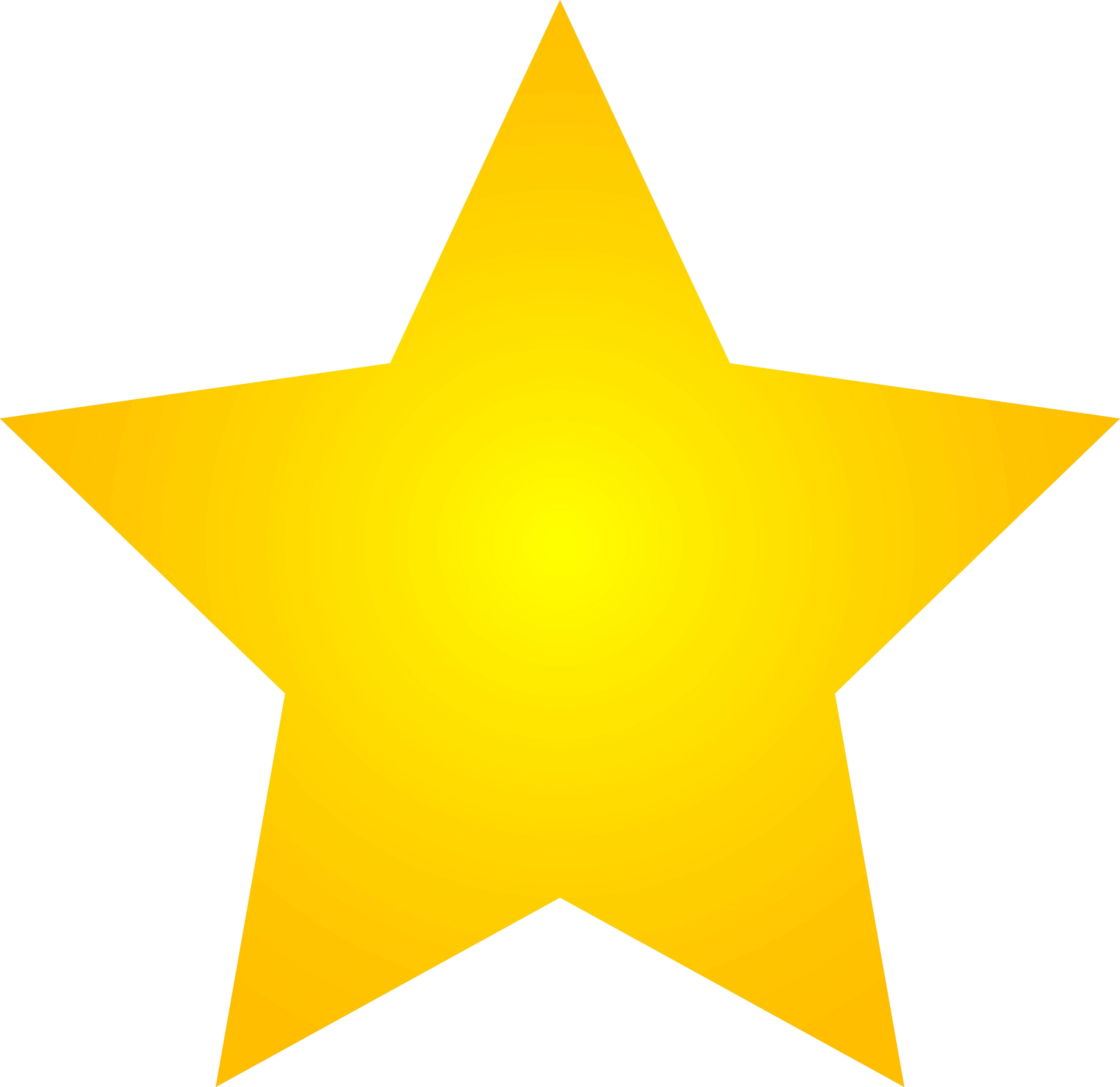 8029x7795 Large Gold Star Clipart